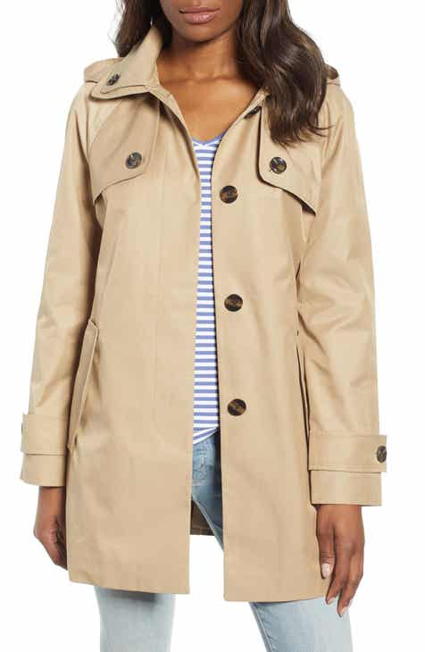 6eee294202d8e9 London Fog Water Repellent Short Trench Coat