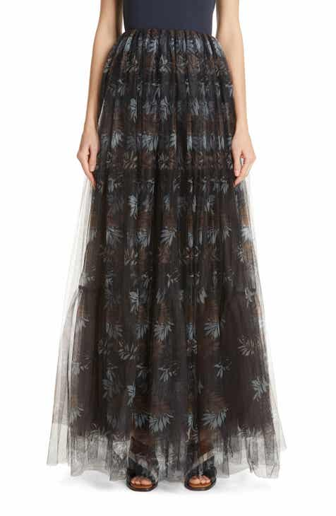 Gucci Interlocking-G Print Reversible Wool & Silk Skirt by GUCCI
