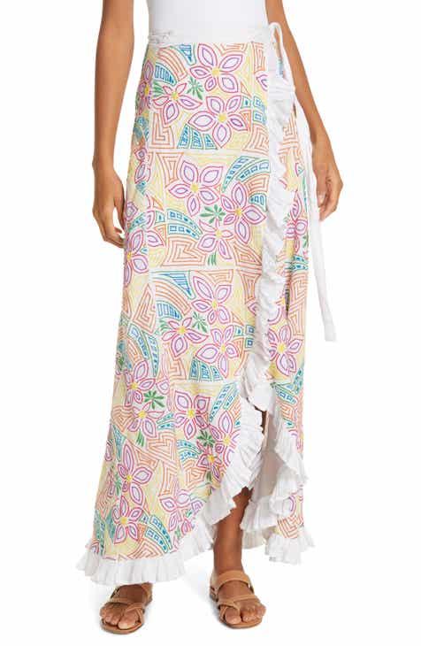629d9e52a7 All Things Mochi Lea Linen Maxi Wrap Skirt
