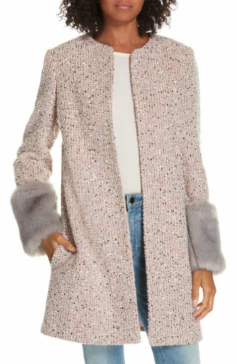 15103a7a9ae Helene Berman Edge to Edge Faux Fur Cuff Jacket
