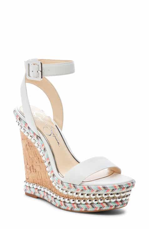 5031fdeb02b Jessica Simpson Alinda Embellished Wedge Sandal (Women)