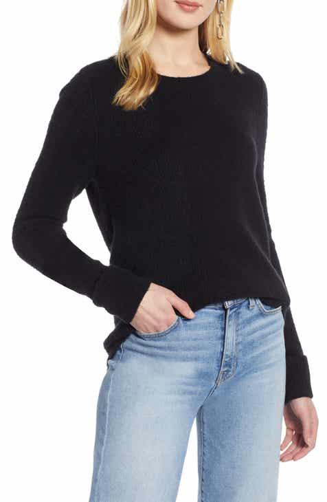 443eeefbb87 Halogen® Cuffed Sleeve Sweater (Regular   Petite)