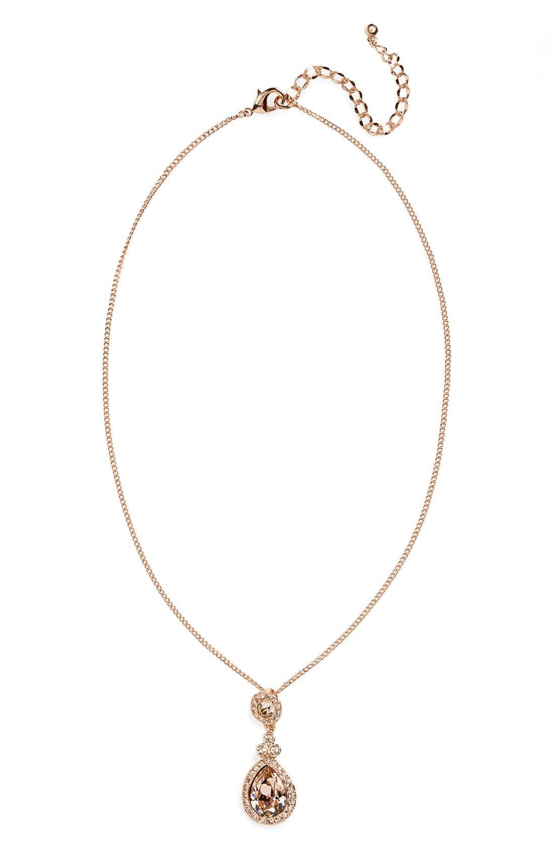 Alternate Image 2  - Givenchy 'Wingate' Swarovski Crystal Pendant Necklace