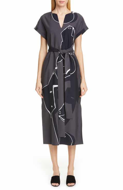 Lafayette 148 New York Cosimia Print Midi Dress by LAFAYETTE 148