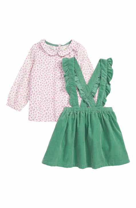 e92e507626 Mini Boden Nostalgic Print Top   Overall Skirt (Baby)