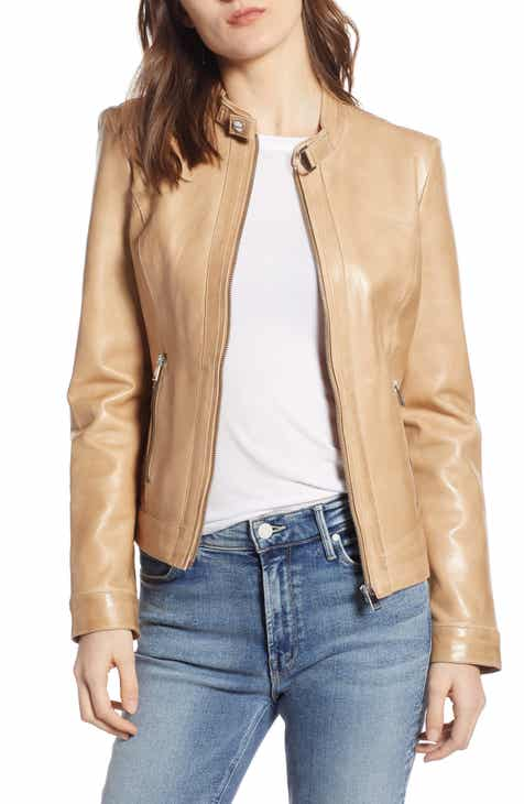 ee4d2cfe8b15a LAMARQUE Lambskin Leather Biker Jacket