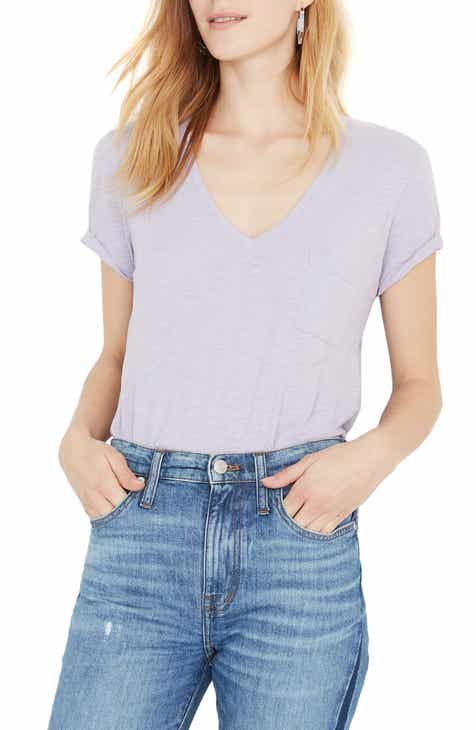 88d19740ed949 Madewell Whisper Cotton V-Neck Pocket Tee (Regular   Plus Size)