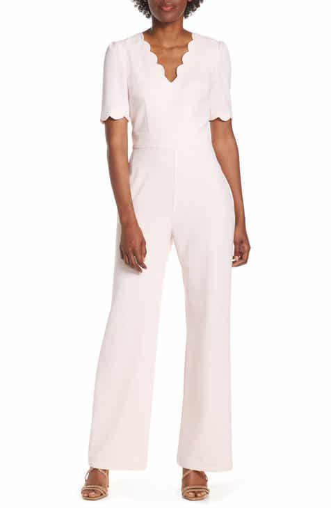 Harper Rose Scallop V-Neck Jumpsuit by HARPER ROSE
