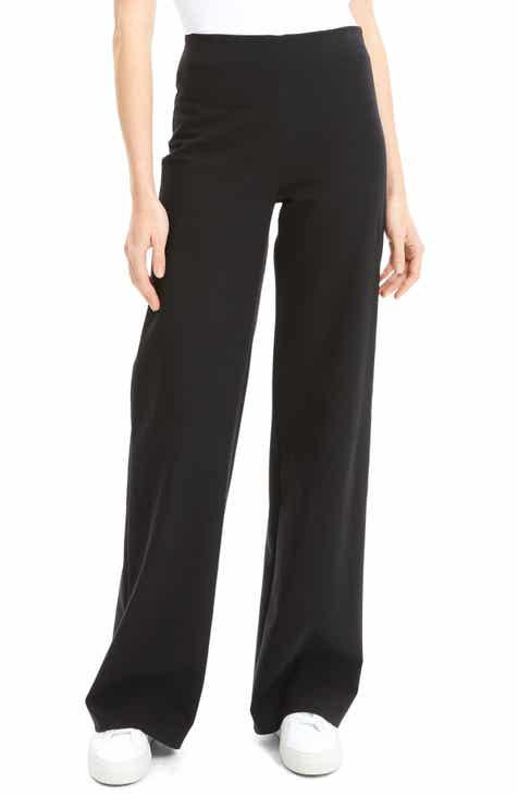 a5e814ef76d Theory Cotton Ponte Wide Leg Pants