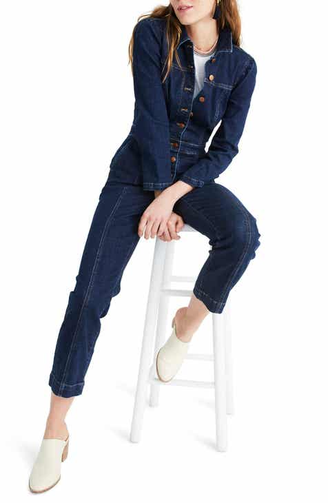 Madewell Puff Sleeve Denim Jumpsuit by MADEWELL