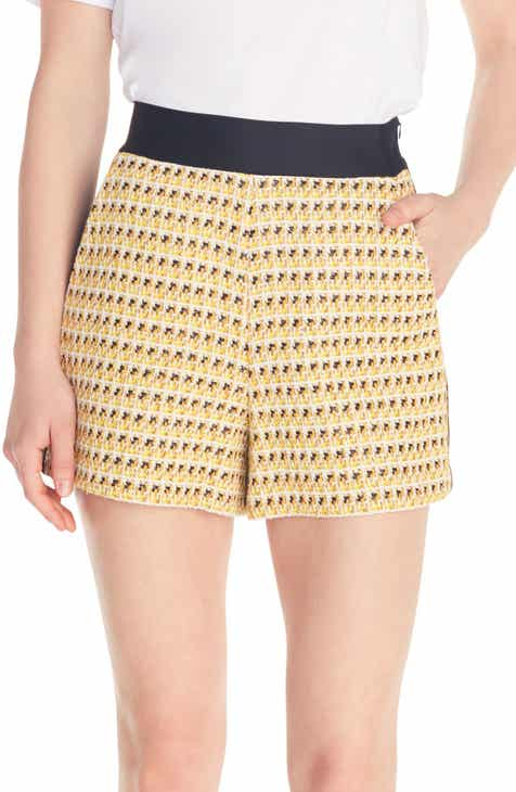 maje Isidore Side Stripe Tweed Shorts by MAJE