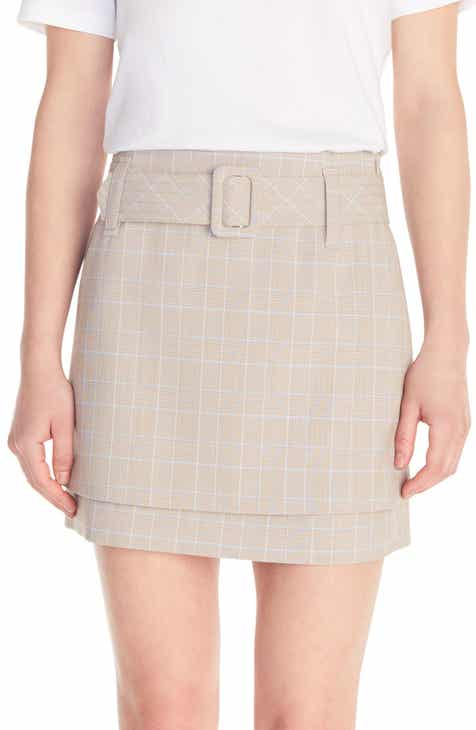 maje Jikam Plaid Belted Shorts by MAJE