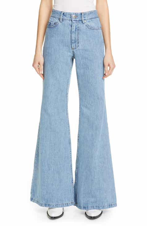 Matthew Adams Dolan High Waist Flare Leg Jeans by MATTHEW ADAMS DOLAN