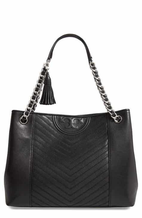 282309709269 Tory Burch Fleming Distressed Leather Tote