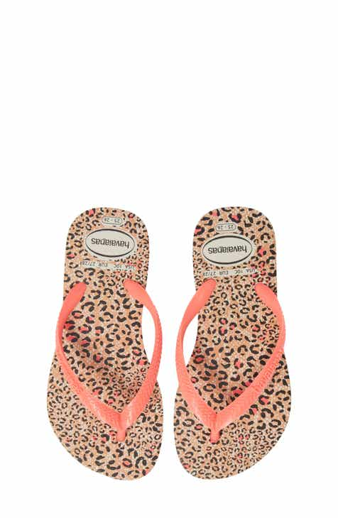 7b9321428d49 Havaianas  Slim  Animal Print Flip Flop (Toddler   Little Kid)