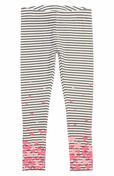 Tucker + Tate Striped Graphic Leggings (Toddler Girls