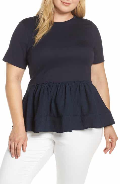 376dc7be2fdb LOST INK Peplum Tee (Plus Size)