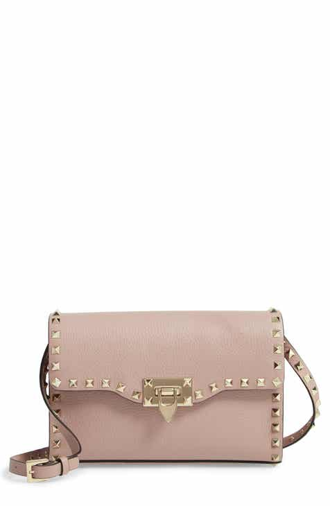 VALENTINO GARAVANI Medium Rockstud Leather Crossbody Bag e8c8850f9d
