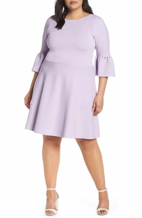 4c24b063ac Eliza J Bell Cuff Fit   Flare Sweater Dress (Plus Size)