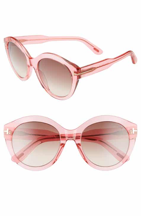 0ad78f0d6b47 Tom Ford Rosanna 54mm Round Cat Eye Sunglasses
