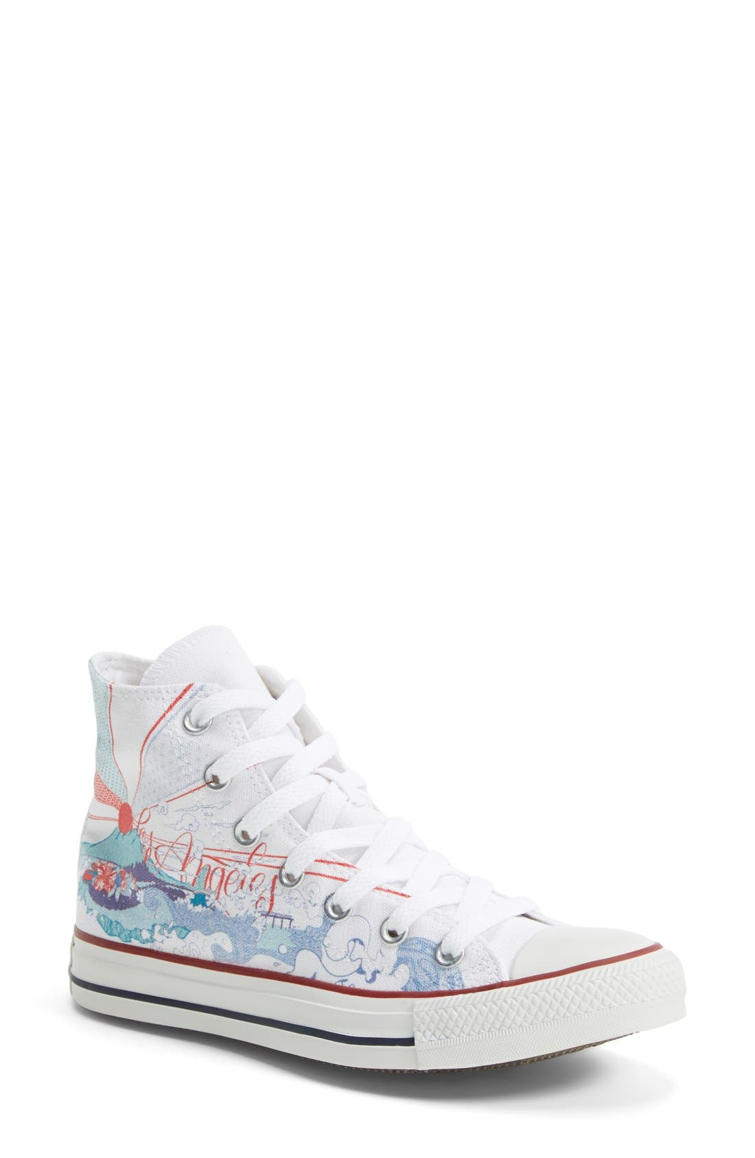 Main Image - Converse Chuck Taylor® All Star® 'Made By You - Los Angeles' High Top Sneaker (Women)