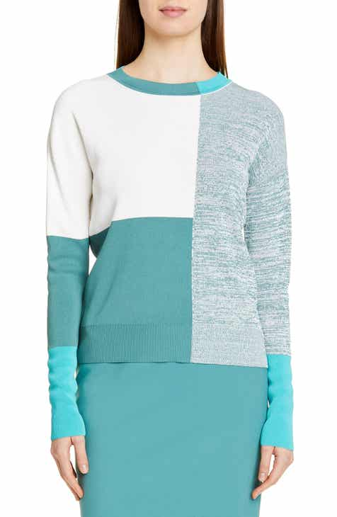 BOSS Fatalie Colorblock Long Sleeve Sweater by BOSS HUGO BOSS