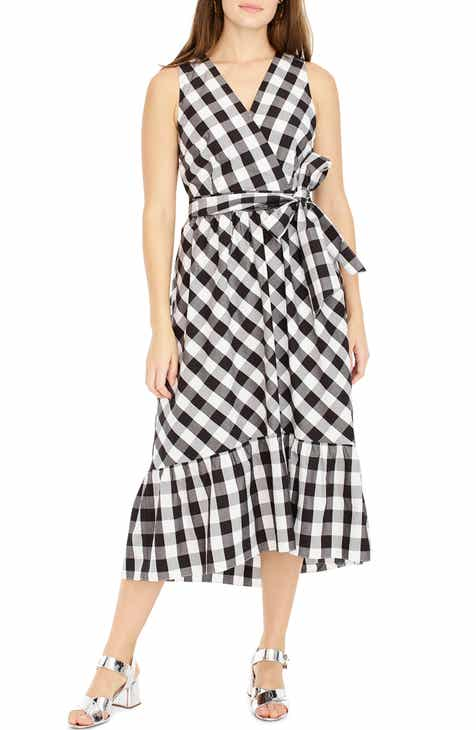 0f603e93669 J.Crew Faux Wrap Gingham Cotton Poplin Dress