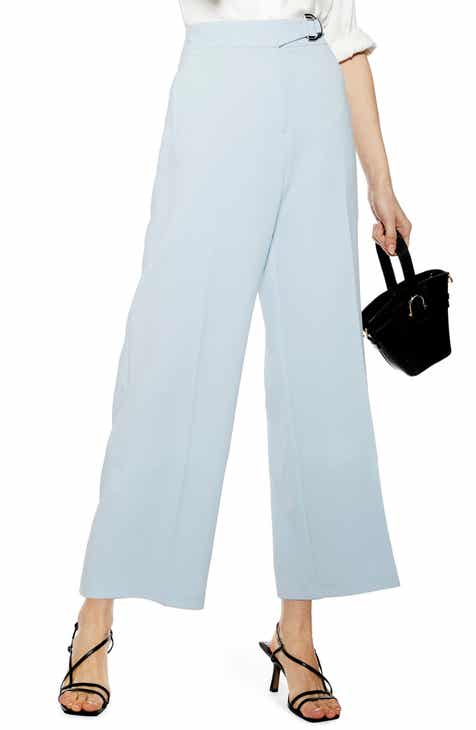 Topshop Dani D-Ring Cropped Trousers by TOPSHOP