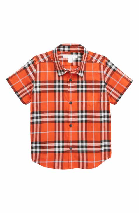 01d1fc3e021e Burberry Fred Pocket Plaid Woven Shirt (Toddler Boys