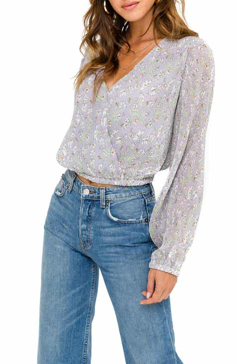 77437c7c053d71 ASTR the Label Crossover Pleated Top