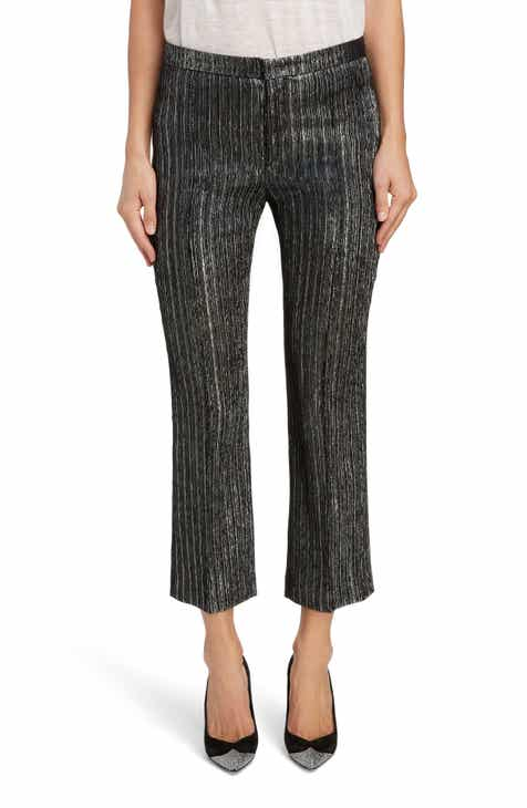 Isabel Marant Straight Leg Lamé Ankle Pants by ISABEL MARANT