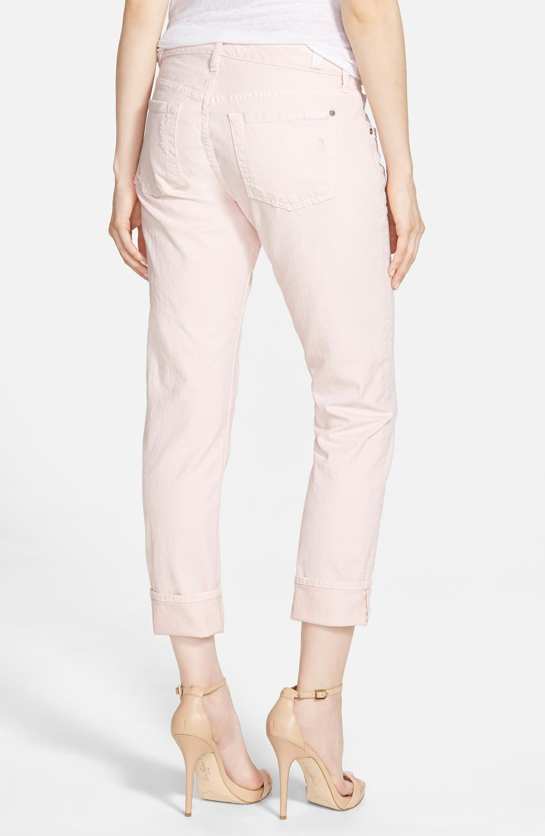 Alternate Image 2  - 7 For All Mankind® Relaxed Skinny Jeans (Whisper Pink)