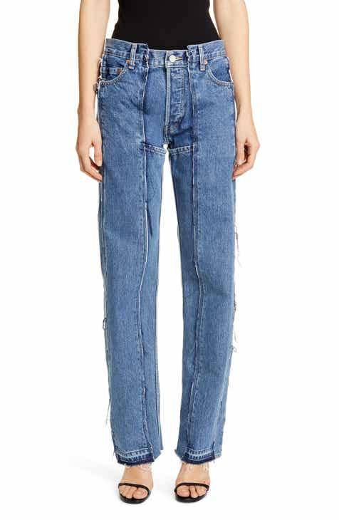Vetements Runway Reconstructed Straight Leg Jeans by VETEMENTS