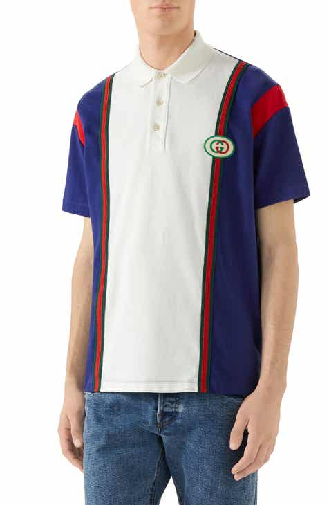 0cd197c163f Gucci Logo Patch Colorblock Polo