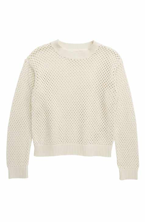 4dfbc7090 Treasure   Bond Pointelle Sweater (Big Girls)