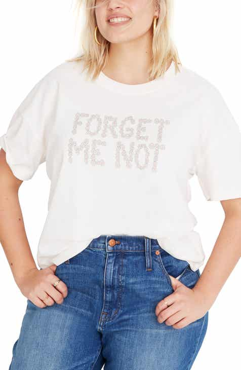 58b7fbc4df3c86 Madewell Forget Me Not Graphic Easy Crop Tee (Regular   Plus Size)
