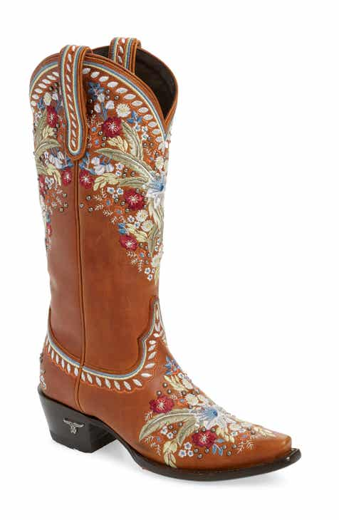 42bf30079608 LANE BOOTS Chloe Floral Embroidered Western Boot (Women)