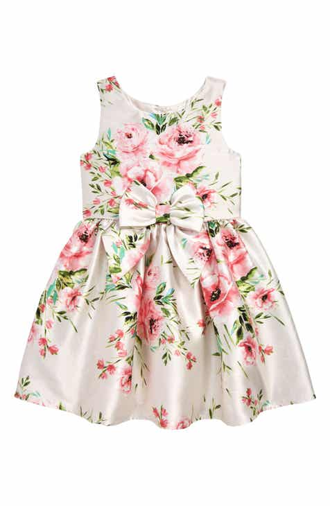 d38b36f90ea Zunie Floral Print Bow Dress (Toddler Girls   Little Girls)