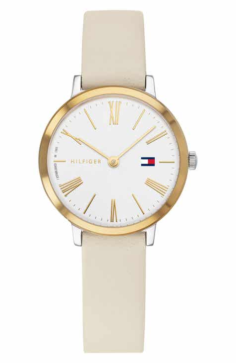 bc088c7e75b34 Tommy Hilfiger x Zendaya Leather Strap Watch