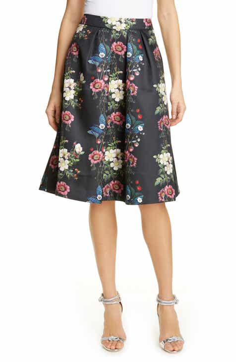Ted Baker London Bevly Oracle Drop Hem Skirt By TED BAKER LONDON by TED BAKER LONDON Discount