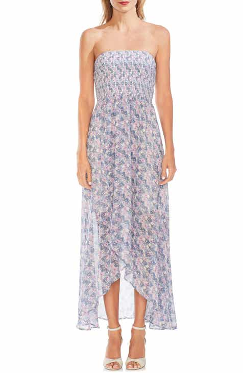 Vince Camuto Strapless Floral Maxi Dress
