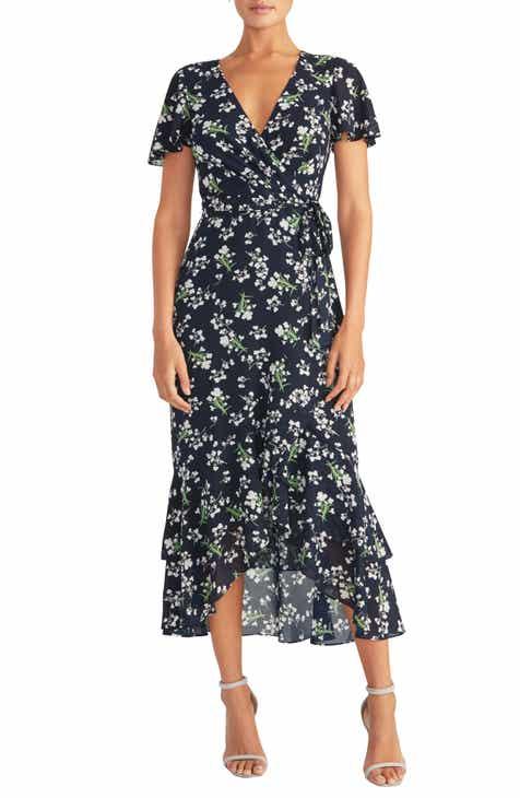 RACHEL Rachel Roy Faux Wrap Midi Dress
