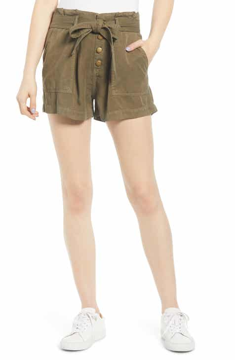 Pam & Gela Paperbag Waist Tie Front Shorts by PAM AND GELA