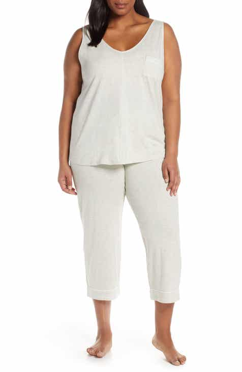 81336337eb6e Nordstrom Lingerie Breathe Cotton Crop Pajamas (Plus Size)