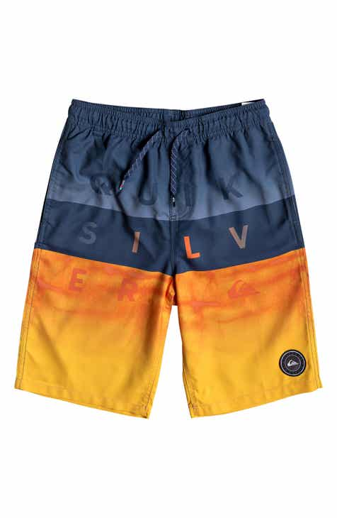 27385e9643 Quiksilver Word Block Volley Swim Trunks