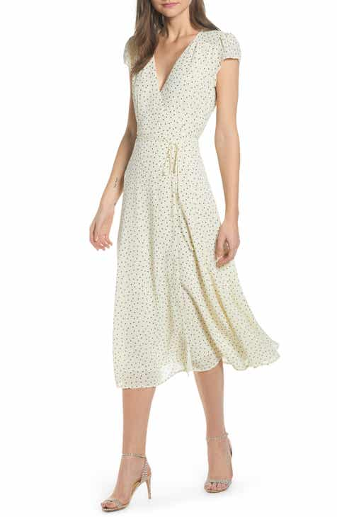 Reformation Carina Midi Wrap Dress 3cb64263979