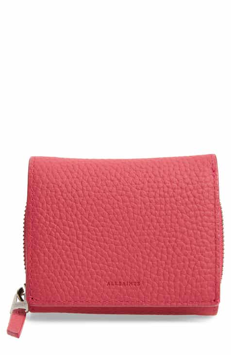 a7e724730c2 ALLSAINTS Captain Leather Trifold Wallet