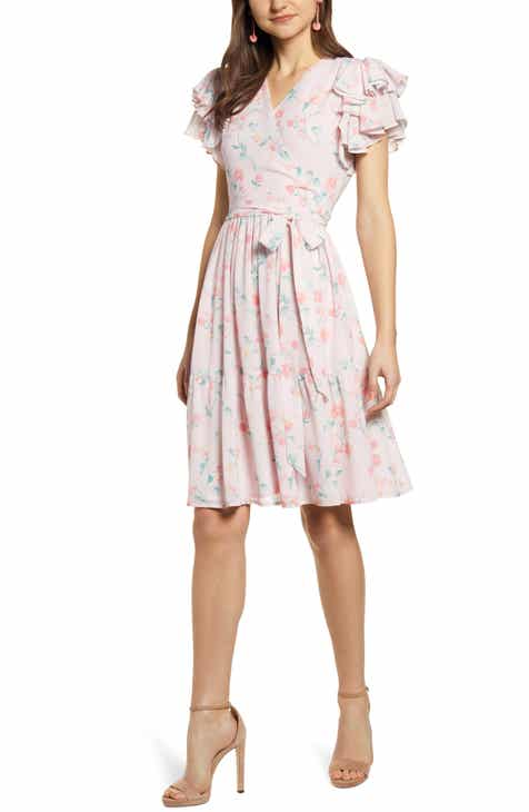 688ba0716b Rachel Parcell Tiered Ruffle Sleeve Dress (Nordstrom Exclusive)