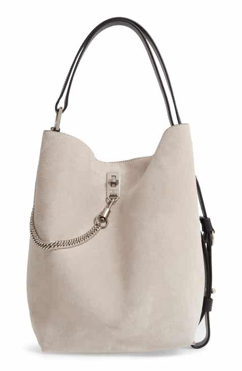 163e3dbb21a1 Givenchy Medium GV Calfskin Suede Bucket Bag