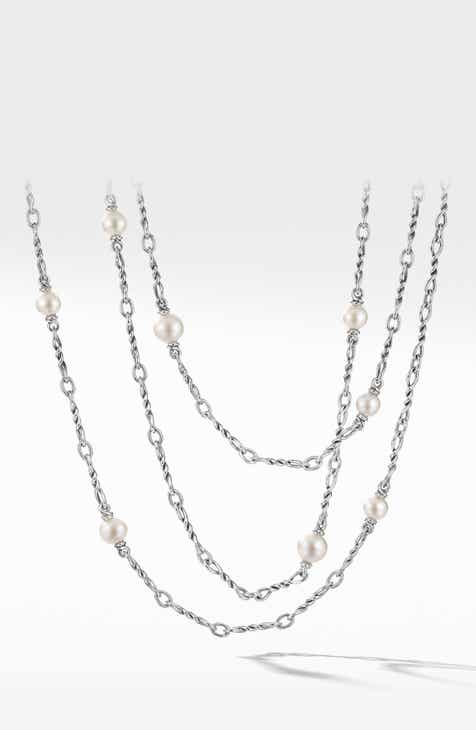2c589271ce7 David Yurman Continuance Pearl Small Chain Necklace